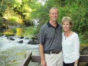 With my best friend/husband Russ at Deschutes Falls WA