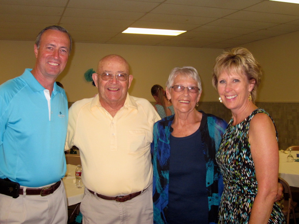 Russ and me with my Aunt Ella Mae and Uncle Theron